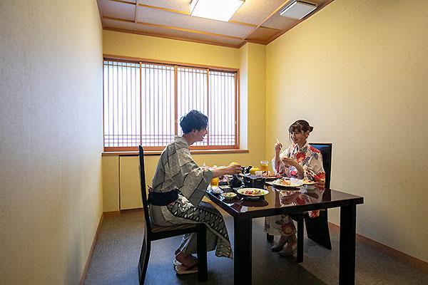 熱海温泉 湯宿一番地 個室風お食事処
